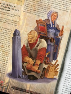 "RPG Illustration for the journal Aventurischer Bote - Achtypen-Illustration für das Rollenspieljournal ""Aventurischer Bote"""