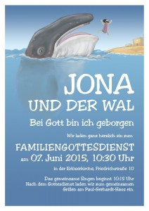 Poster to introduce to church service with children at the Erlöserkirche, Münster, in June 2016