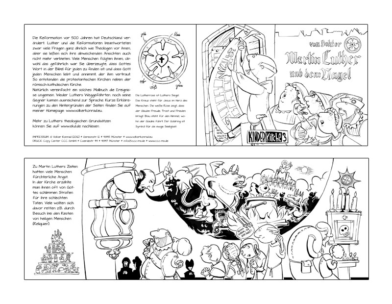 Malbuch Reformation – Colouring Book on Protestant ...