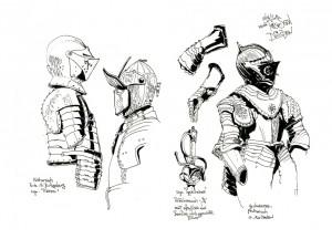 Armors from the Rüstkammer Dresden; Skizzen aus der Rüstkammer zu Dresden
