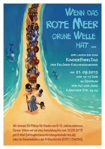 Poster for an childrens event at church dealing with Exodus 14 - Plakat für einen Kinderbibeltag zu Exodus 14