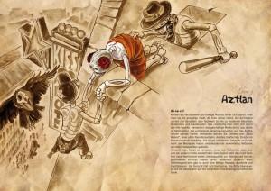 Ebenenstarter Aztlan des Los Muertos RPGs. Levelstarter Aztlan from the Los Muertos RPG.