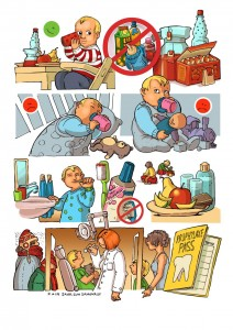 Comicpage on Prophylaxis and Dental Care - Comicseite zur Zahnpflege und Prophylaxe.