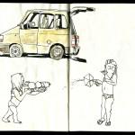 sketchbook from Brittany - Skizzenbuch aus der Bretagne - am Strand - on the beach