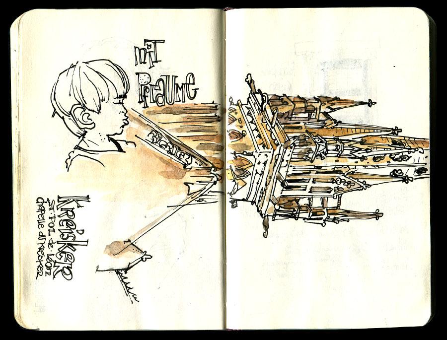 sketchbook from Brittany - Skizzenbuch aus der Bretagne - Kreisker in St. Pol