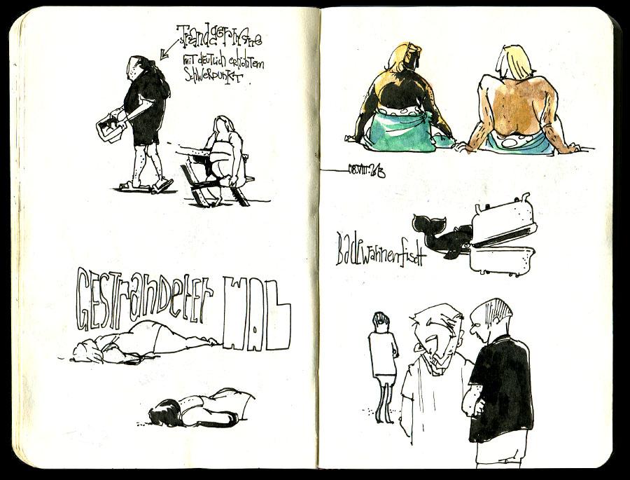 sketchbook from Brittany - Skizzenbuch aus der Bretagne
