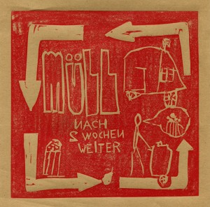 Linolschnitt mit Kindern für Mülldienst - Gastkünstler - linocut made with children on the waste service - Guest Artist