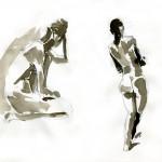 Aktzeichungen Volker Konrad - Female Nude Sketches Volker Konrad - Pencil and Indian Ink