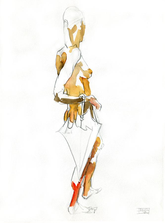 Aktzeichungen Volker Konrad - Female Nude Sketches Volker Konrad - Pencil and Water Colours
