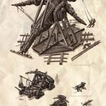 Cover, Fernkampfwaffen & Streitwagen für das DSA Fanprojekt Rakshazar - Cover, Catapults and Chariots for the RPG-Fanproject Rakshazar