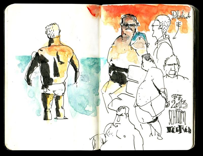 Skizzenbuch 2013 - Schwimmbad