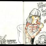 Skizzenbuch 2013 - Eisessen
