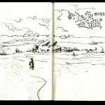 Skizzenbuch 2013 - Uferfelsen Bretagne
