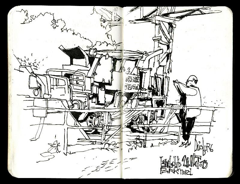 Skizzenbuch 2013 - Landschaftspark