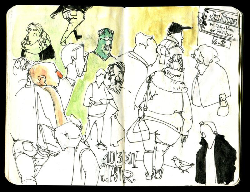 Skizzenbuch 2013 - Passanten