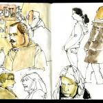Skizzenbuch 2013 - Portraitskizzen