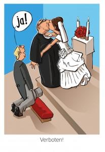 """Cartoon zum Thema """"Verboten"""" - Topic """"Prohibited"""""""