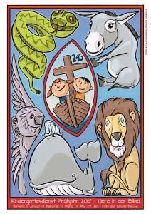 Poster für den Kindergottesdienst: Tiere in der Bibel - Animals in the BIble