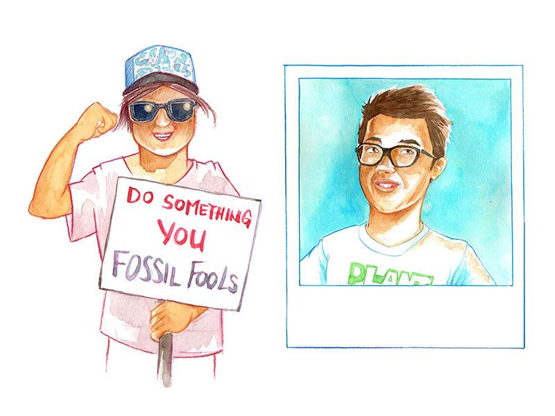 Climate change, Protesting Kids; Felix Finkbeiner