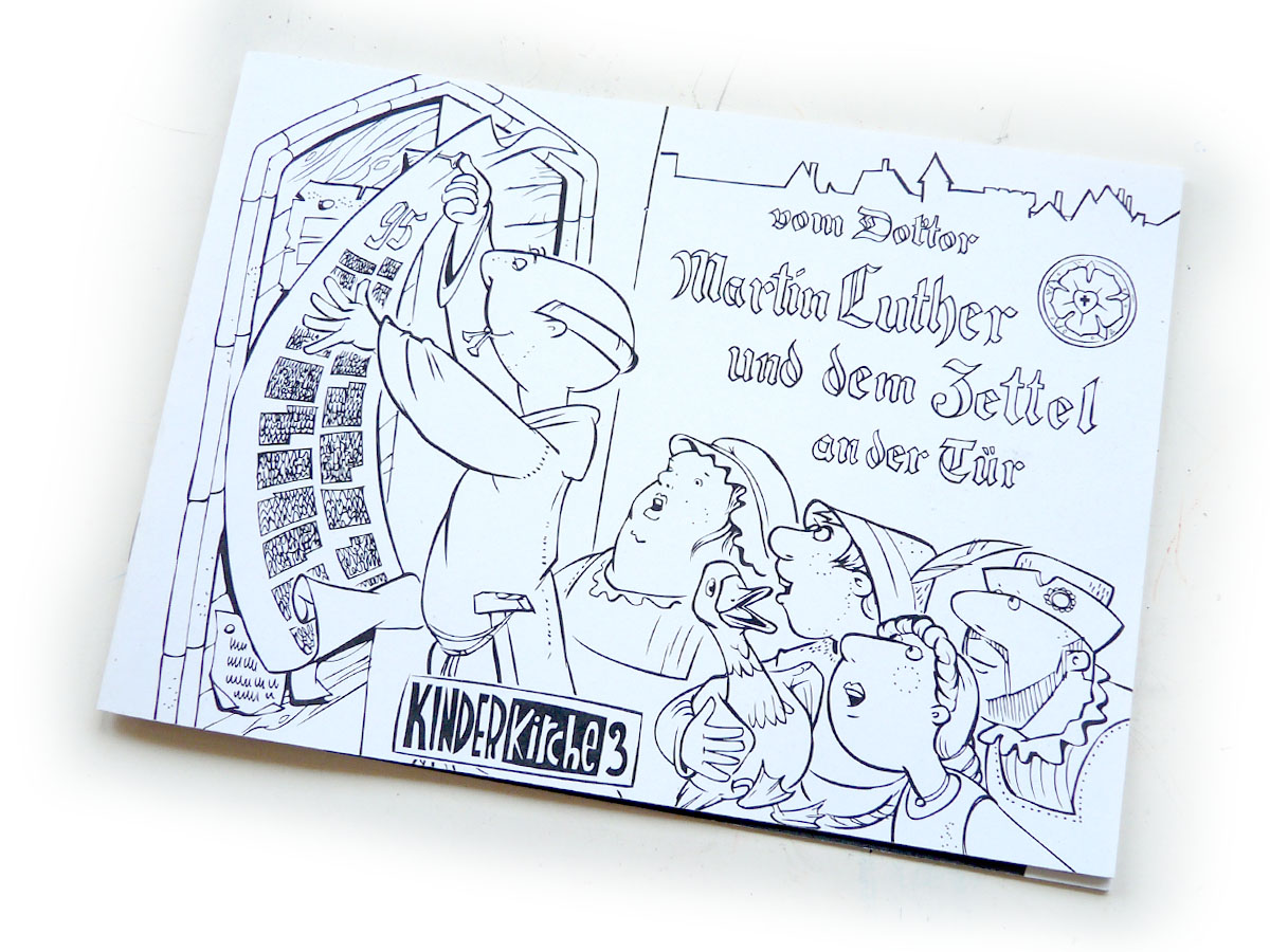 """Colouring Book """"On the Dictor Martin Luther and the note at the door"""""""
