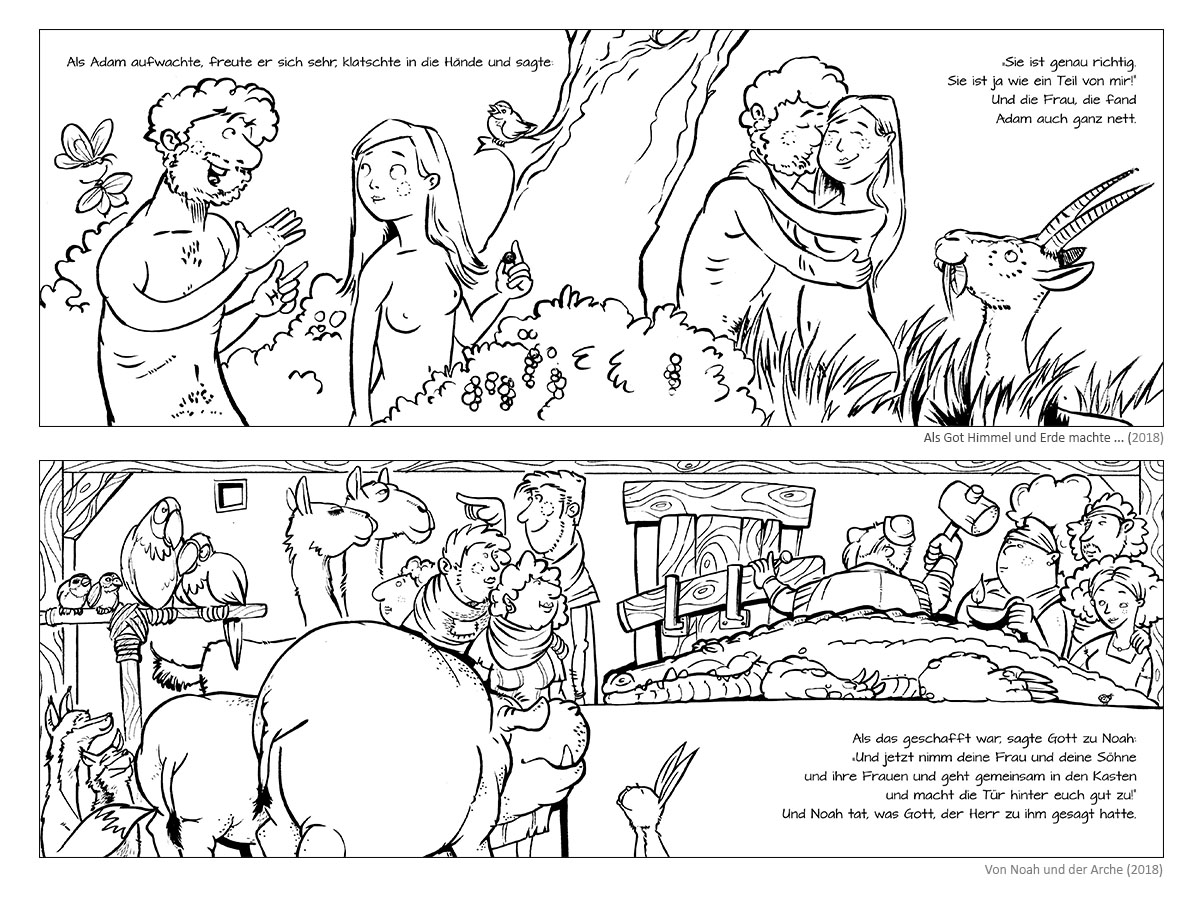 """Colouring Book """"When God Created the Heavens and the Earth"""" & """"Noah and the Ark"""""""