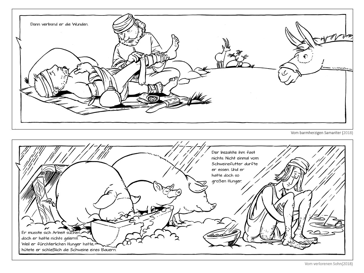 """Colouring Books """"Of the Good Samaritan"""" & """"Of the Lost Son"""" (2018)"""