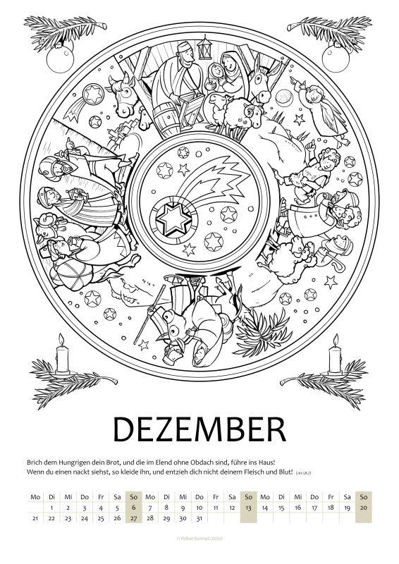 Mandalakalender Dezember 2020